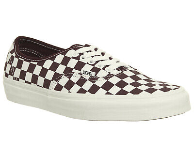 Mens Vans Authentic Trainers Port Royale Marshmellow Checkerboard Trainers Shoes