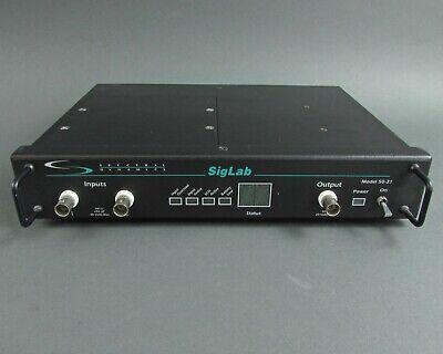 Spectral Dynamics Siglab 50-21 Dynamic Signal Analyzer Mc50-84