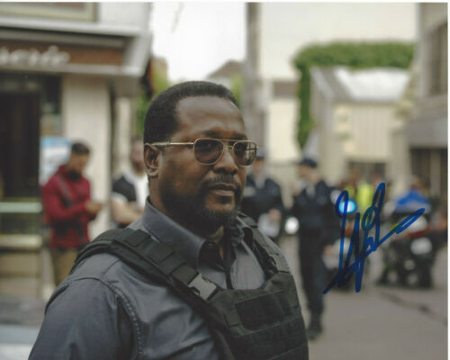 WENDELL PIERCE SIGNED AUTHENTIC 'THE WIRE' BUNK 8X10 PHOTO E w/COA ACTOR TREME