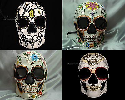 Mens Day of the Dead Mask Full Face Masquerade Dia de los Muertos Skull Mask](Day Of The Dead Skull Mask)