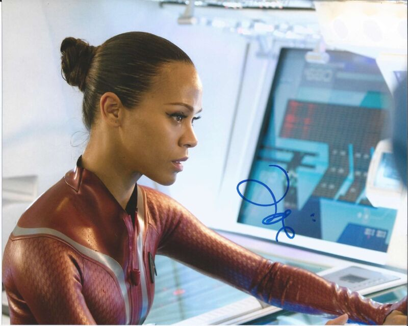 ZOE SALDANA SIGNED AUTHENTIC 'GUARDIANS OF THE GALAXY' GAMORA 8X10 PHOTO B COA