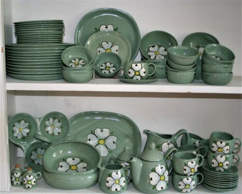 Purinton Pottery Maywood Slip Ware Service for 12 plus Many Extras - 79 Pieces