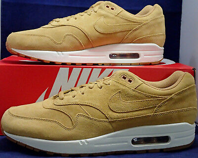 Nike Air Max 1 Premium Wheat Flax Gum Medium Brown SZ 9 ( 875844-203 )