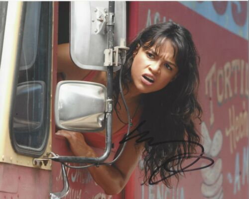 MICHELLE RODRIGUEZ SIGNED 'THE FAST & FURIOUS' 8x10 MOVIE PHOTO 6 COA LETTY 7 9