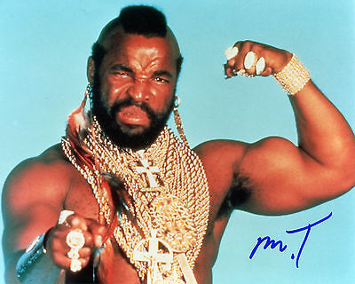 Mr. T - B.A. Baracus - The A-Team - Signed Autograph REPRINT