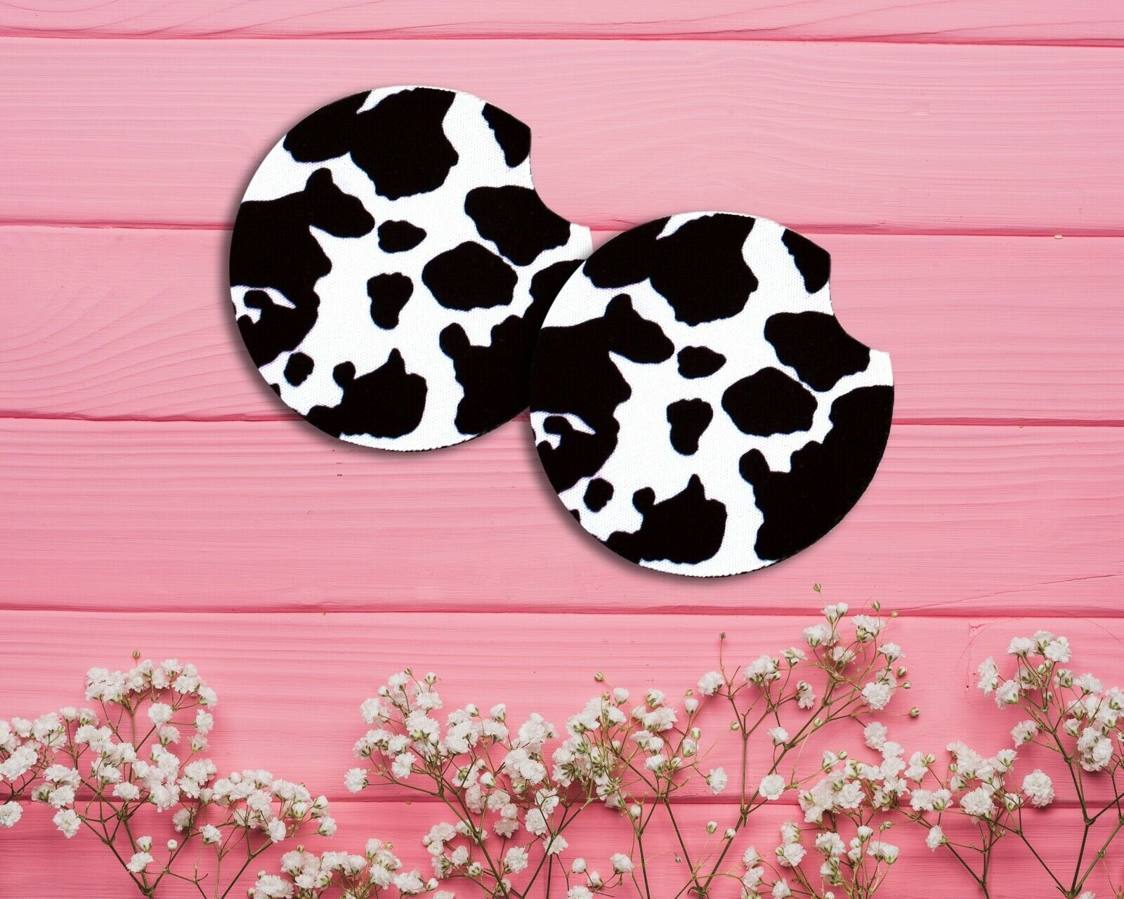 set of 2 or 4 cow print