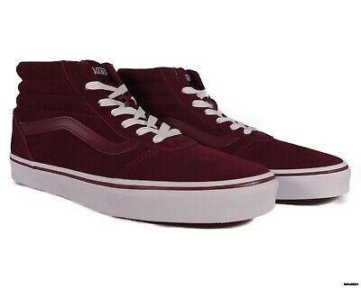 VN0A3IUO6DZ VANS Ward Hi Suede (Port Royale / White) Women Shoes Size 8.5