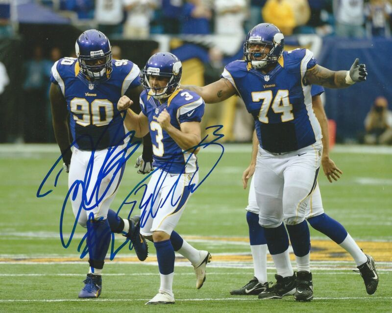 **GFA Minnesota Vikings *BLAIR WALSH & FRED EVANS* Signed 8x10 Photo B4 COA**