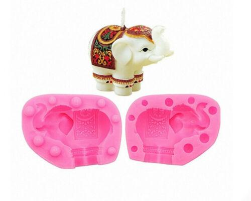 Elephant Craft Art Silicone Soap mold Craft Molds DIY Handmade Candle mold Choco