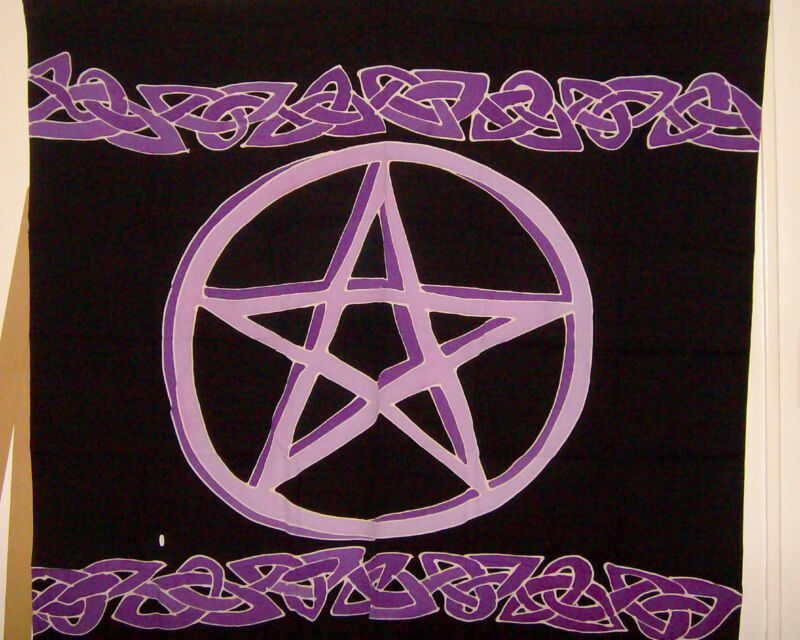 Celtic Knot and Pentacle Wall Hanging Tablecloth Altar Brand New Wiccan Pagan