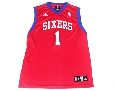 Youth Adidas Sixers 76ers  1 NBA Basketball Jersey Kid Sz L 14-16  Carter-William 2f173526e