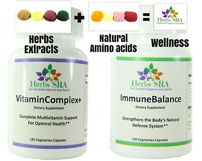 The Best Supplement to Improve Health 240 Capsules 2 Naturals Formulas, (Best Natural Energy Supplement)