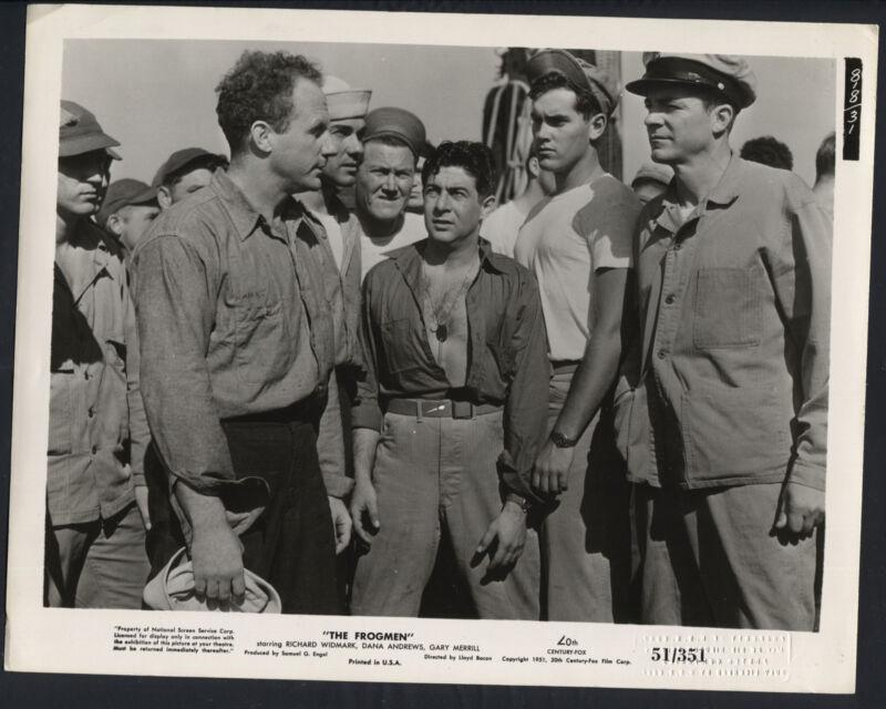 The Frogmen '51 DANA ANDREWS JEFFREY HUNTER HARVEY LEMBECK HENRY SLATE