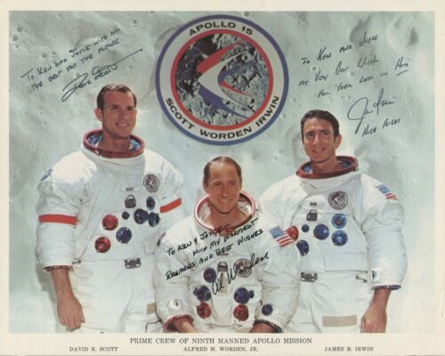 Rare APOLLO 15 Crew Signed Photo