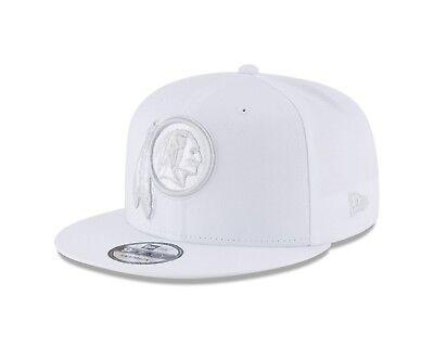 White Washington Hat - Washington Redskins Tonal Pastel White Snapback 9Fifty New Era NFL Hat