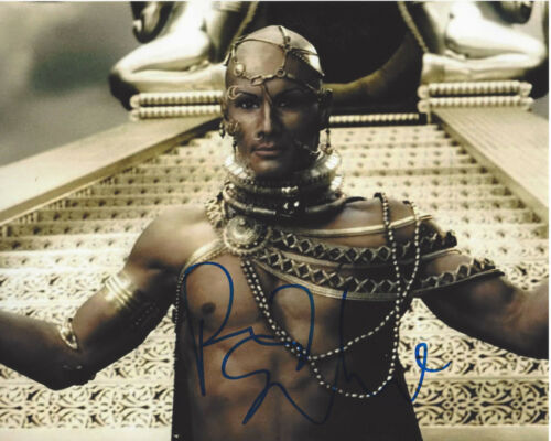 RODRIGO SANTORO SIGNED AUTHENTIC 300 'XERXES' 8X10 PHOTO C w/COA ACTOR WESTWORLD