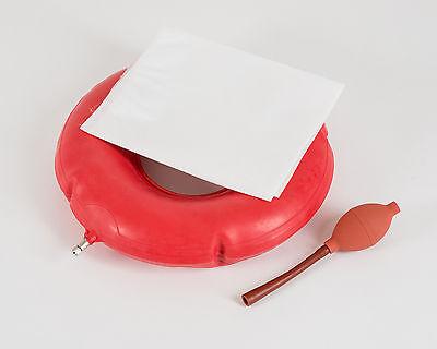 Gummi Sitzring Luftring Luftkissen Sitzkissen als Set mit Bezug