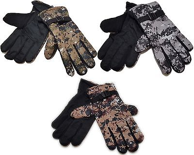 Fleece Hunting Gloves (Digital Camouflage Men's Fleece Lined Polyester Hunting Gloves Choice of Colors  )