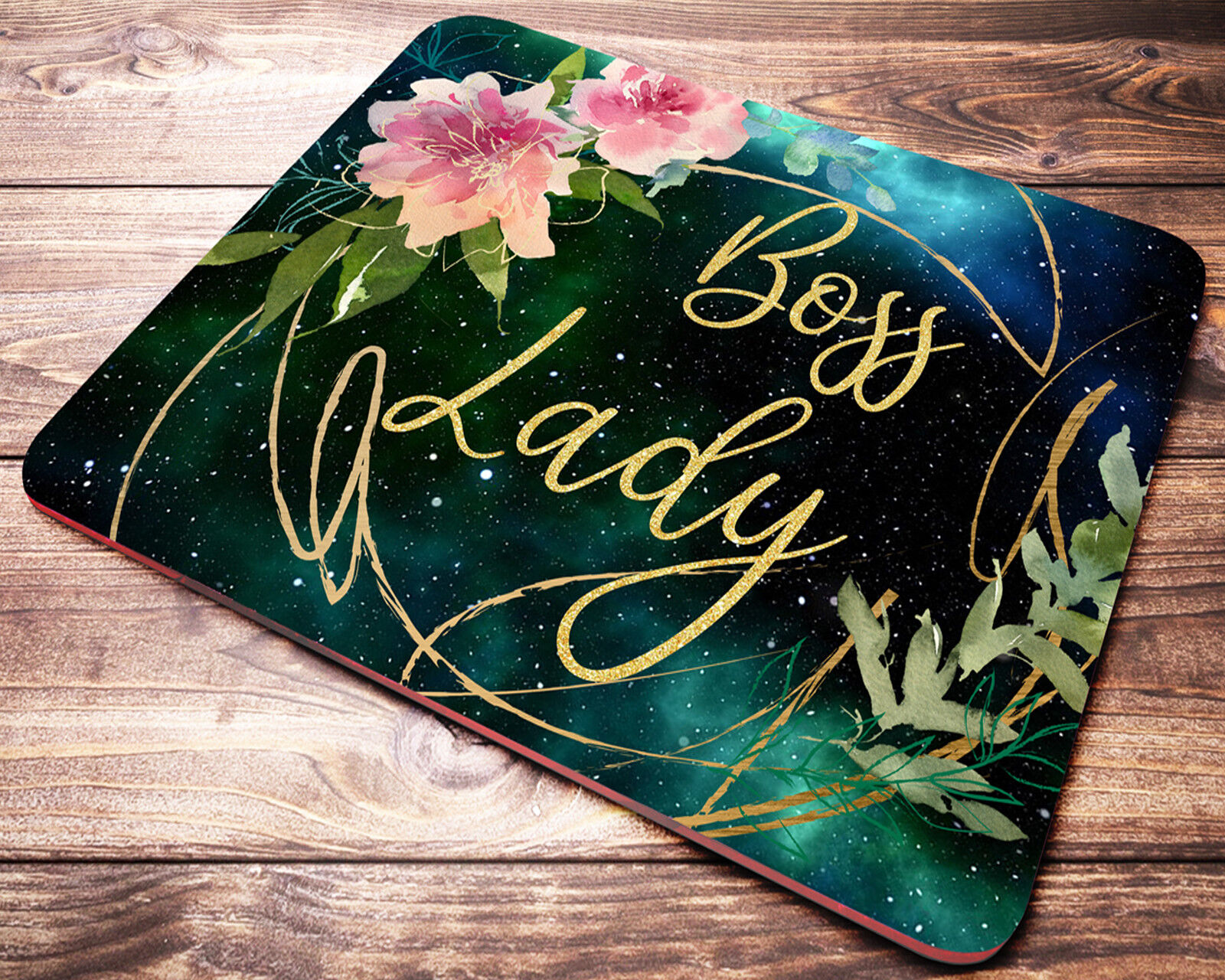 Boss Lady Floral Mouse Pad Office Gifts Desk Accessories For
