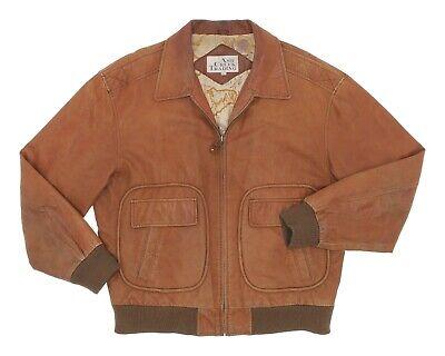 ASH CREEK TRADING Leather Jacket L Large Mens Vintage A-2 Flight Bomber Jacket