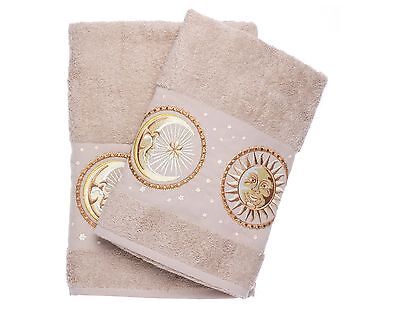 Ebru Bath & Hand Towel Set Best Quality %100 Turkish Cotton Sun&Moon