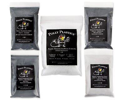 Polly Plastics Rock Tumbler Grit Kit - Plastic Filler](Rock Tumbler Kit)
