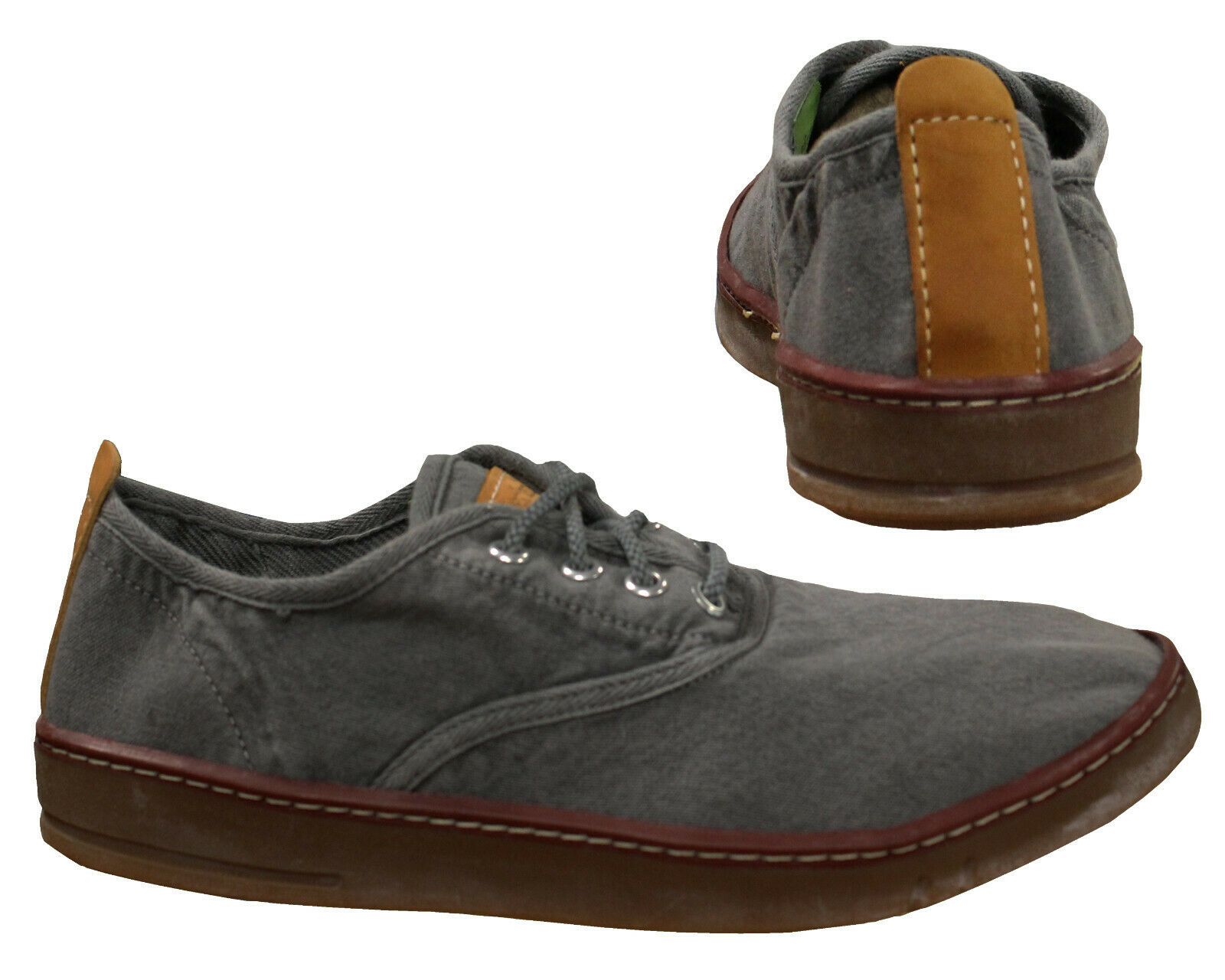 Détails sur Timberland Earthkeepers Hookset Toile Homme Lacet Chaussures Gris Bas 5309A B90E