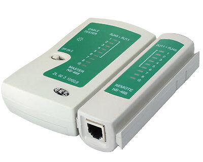 Cat5 Netzwerk Tester (Patch Kabel Tester für RJ45 CAT5 CAT6 RJ11 RJ12 ISDN LAN DSL Netzwerk Testgerät)