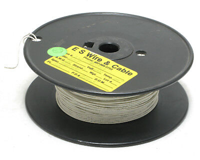 22awg Solid Hookup Wire 1000v White M168782bea 500ft