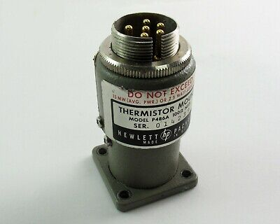 Hp Agilent P486a Thermistor Mount 100 Ohm Wr-62 12.4-18 Ghz