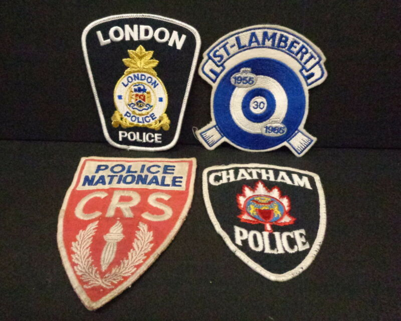 FOREIGN POLICE PATCH COLLECTION, FRANCE, CANADA, MORE, SET OF EIGHT