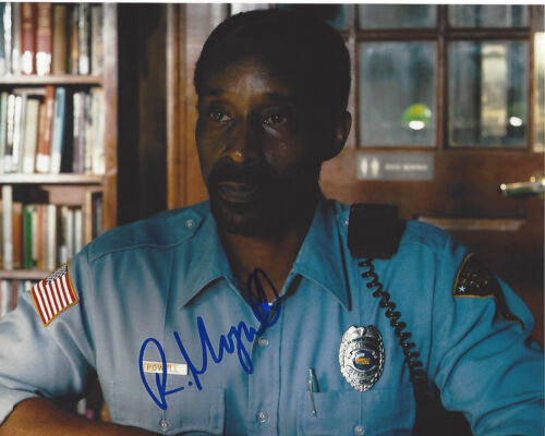 ROB MORGAN SIGNED AUTHENTIC 'STRANGER THINGS' OFFICER POWELL 8x10 PHOTO B w/COA
