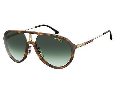 CARRERA 1026/S 086 9K Sunglasses Dark Havana Frame Green Lenses 59mm