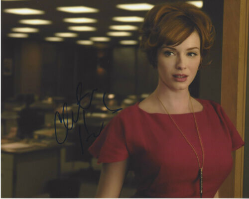 CHRISTINA HENDRICKS SIGNED AUTHENTIC 'MAD MEN' 8X10 PHOTO B w/COA DRIVE FIREFLY