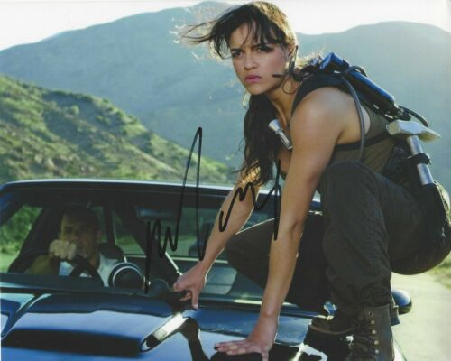 MICHELLE RODRIGUEZ SIGNED 'THE FAST & FURIOUS' 8x10 MOVIE PHOTO 1 COA LETTY 7 9