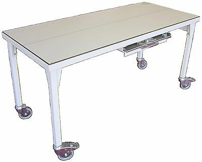 Fi-3199 Mobile X-ray Table With Cassette Tray Grid Cabinet Grid Wheel Locks