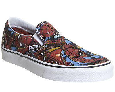 VANS CLASSIC SLIP ON MARVEL SPIDERMAN BLACK 2018 MENS LIMITED EDITION - Spiderman Vans
