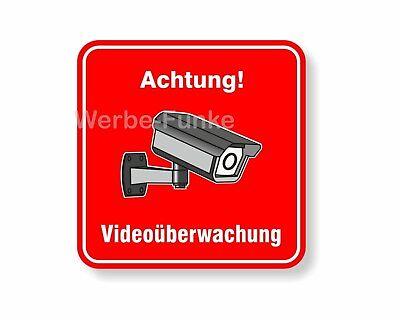 """1 Aufkleber """" Videoüberwachung"""" 150 x 150 mm, Kameraüberwachung, videoüberwacht"""