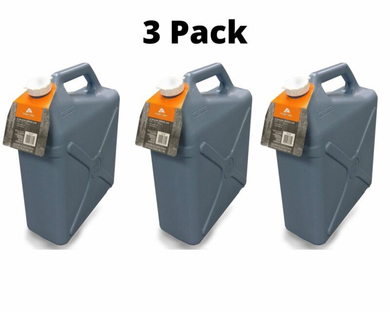 6 GALLON WATER JUG CARRIER CONTAINER Plastic Jerry Can BPA Free Camping Hunting
