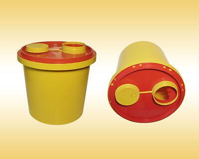 Abwurfbehälter / Entsorgungsbox für Kanülen 2 Liter mit Sicherheitsdeckel