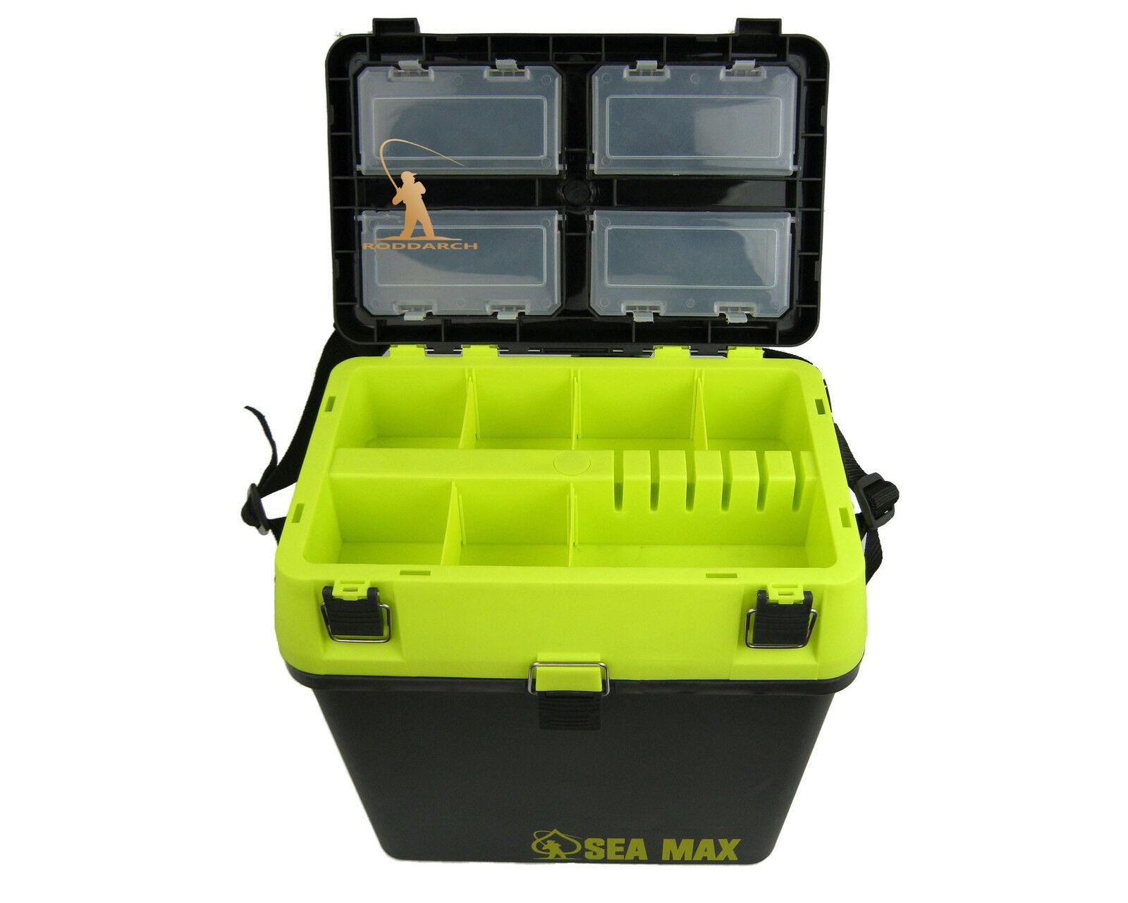 Sea fishing tackle seat box roddarch sea max genuine for Fishing tackle box
