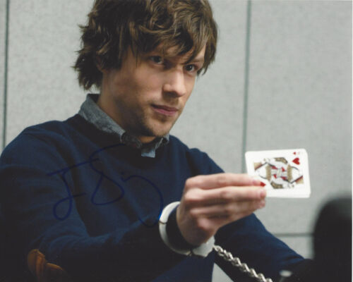 JESSE EISENBERG SIGNED AUTOGRAPH 'NOW YOU SEE ME' 8x10 PHOTO w/COA ACTOR PROOF