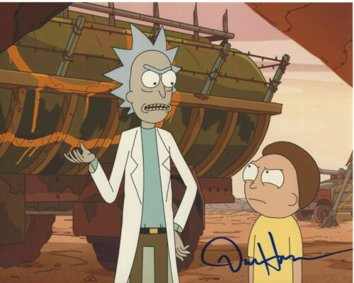 DAN HARMON - RICK AND MORTY CREATOR - SIGNED AUTHENTIC 8X10 PHOTO L w/COA PROOF
