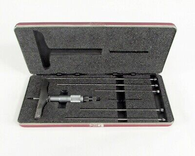 Starrett No. 445 Micrometer W Extension Rodes And Case