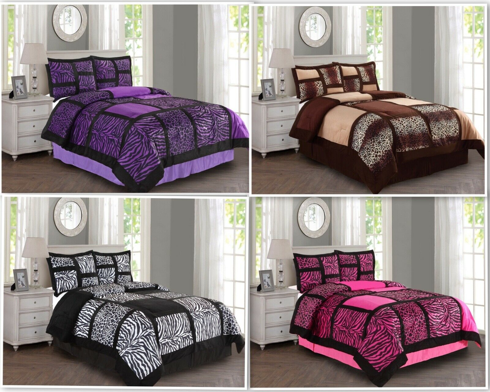 empire home safari damask 4 piece comforter