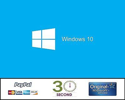 WINDOWS 10 PRO ORIGINAL LICENSE KEY CODE PROFESSIONAL 32 / 64BIT GENUINE OEM COA