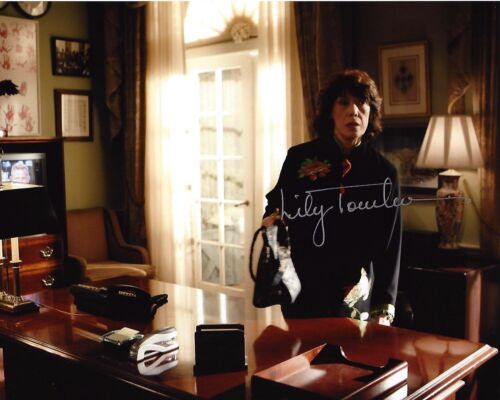 ACTRESS LILY TOMLIN HAND SIGNED THE WEST WING 8X10 PHOTO B W/COA DEBBIE FIDERER