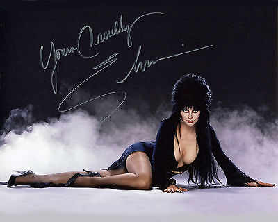 REPRINT - ELVIRA 1 Mistress of Dark Halloween autographed signed photo copy