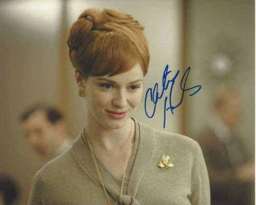 CHRISTINA HENDRICKS SIGNED AUTHENTIC 'MAD MEN' 8X10 PHOTO w/COA DRIVE FIREFLY