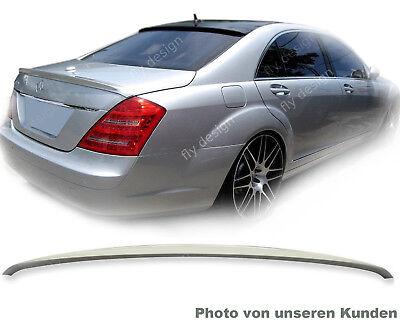Mercedes Benz W221 SPOILER Heck AMG Stil Autospoiler KOFFERRAUM LIPPE Type A